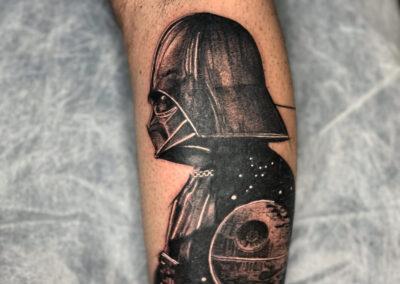 Dani en Verger Tattoo Darth Vader