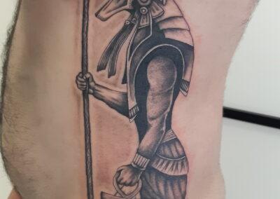 Saúl en Verger Tattoo Anubis