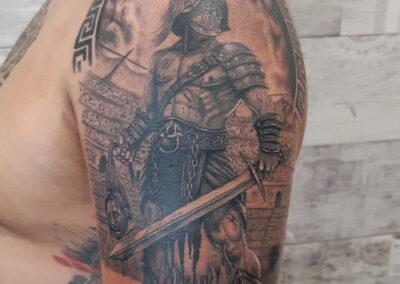 Saúl en Verger Tattoo, Gladiador en batalla