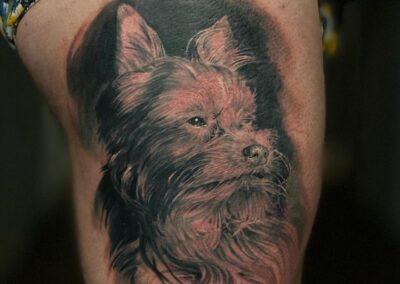 Tatuaje de Jr. Verger en Verger Tattoo Perro