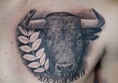 Saúl en Verger Tattoo Toro