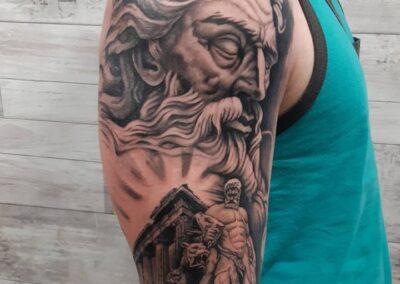 Saúl en Verger Tattoo Dios Griego