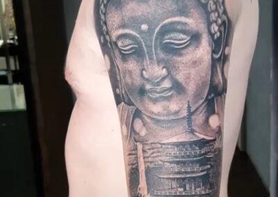 Saúl en Verger Tattoo Budha
