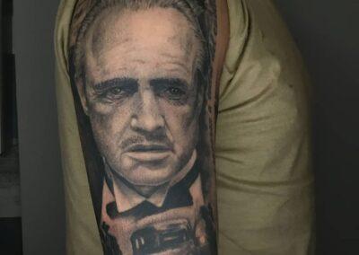Saúl en Verger Tattoo GodFather